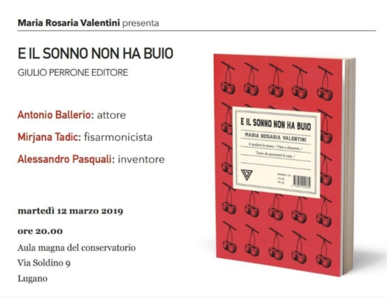 Appuntamento con la scrittrice Maria Rosaria Valentini a Lugano il 12 Marzo 2019