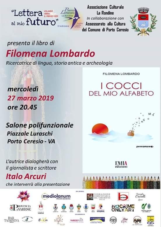 Mercoledì 27 Marzo 2019 – Appuntamento con la scrittrice  Filomena Lombardo