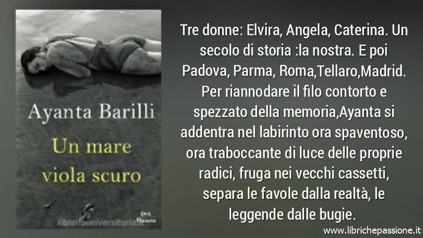 """Novità editoriale dell' 11 Giugno 2019 """"Un mare viola scuro"""" di Ayanta Barilli edito da Dea Planeta (Estratto)"""