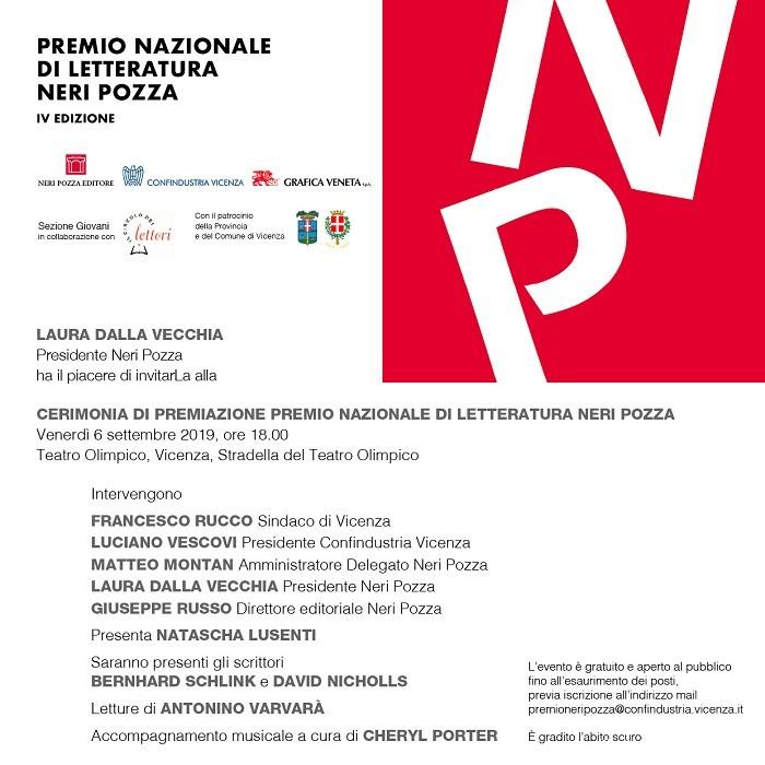Premio Nazionale di letteratura Neri Pozza IV edizione