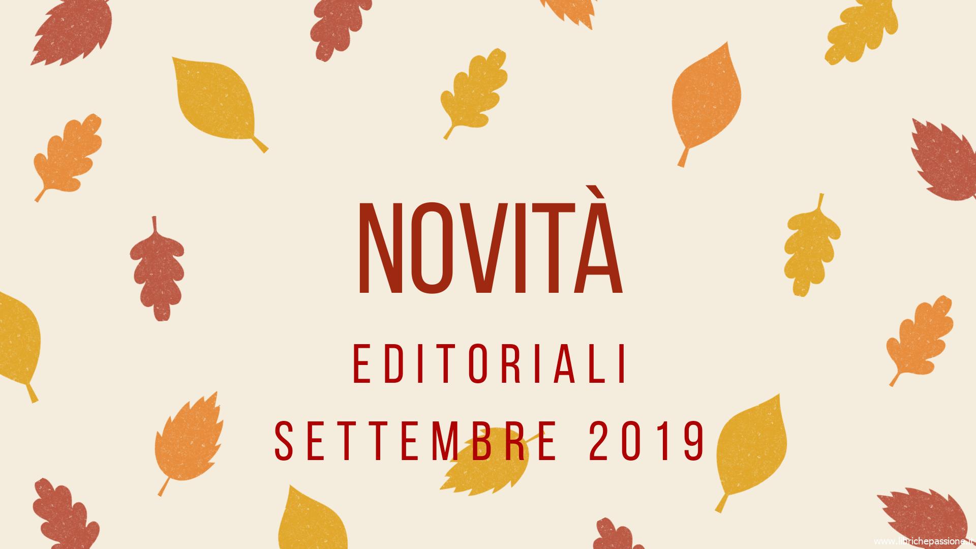 Novità in libreria Settembre 2019