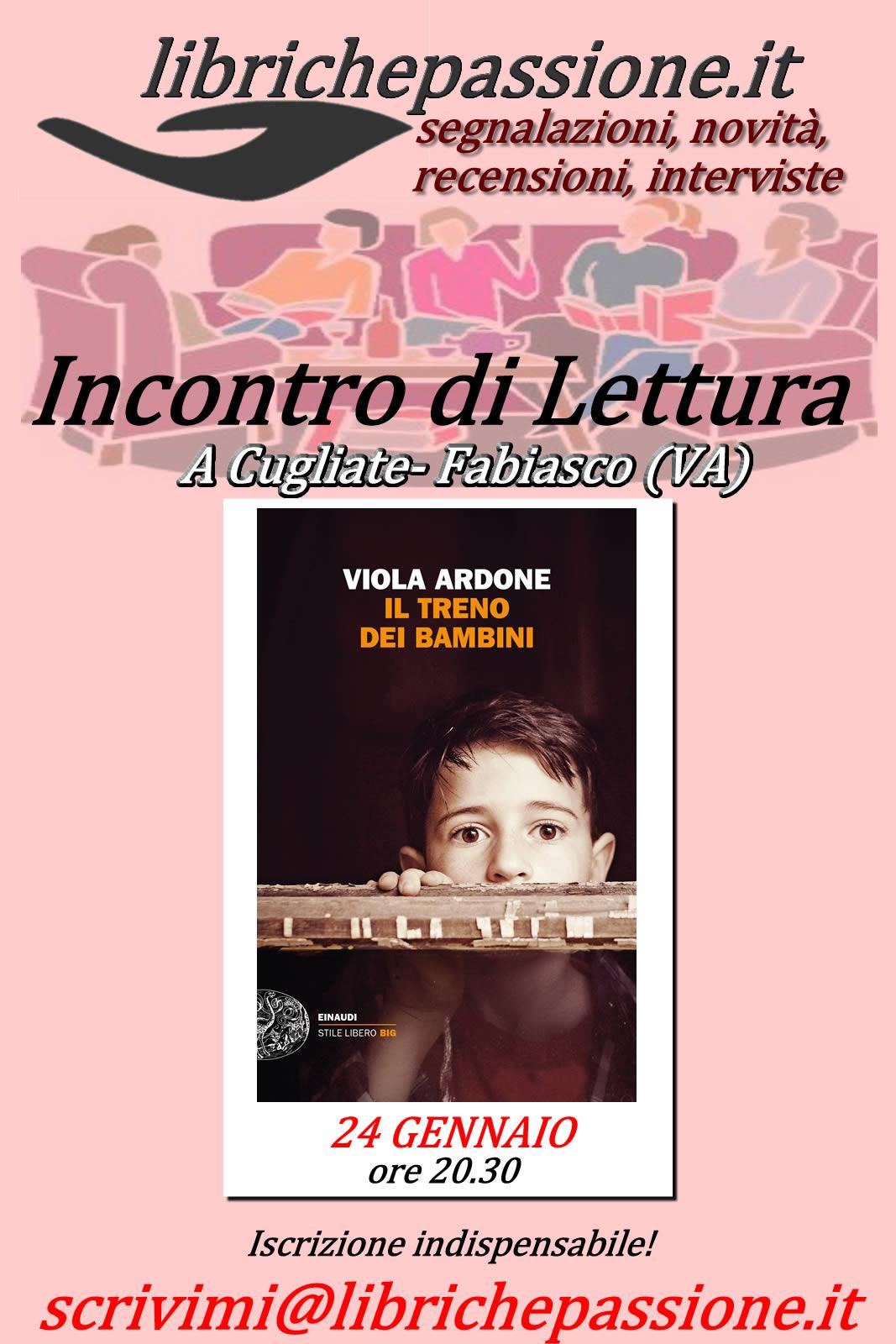 Appuntamento con i libri a Cugliate Fabiasco,gli incontri  di lettura  inizieranno il 24 Gennaio 2020.Per chi volesse partecipare sono aperte le iscrizioni.