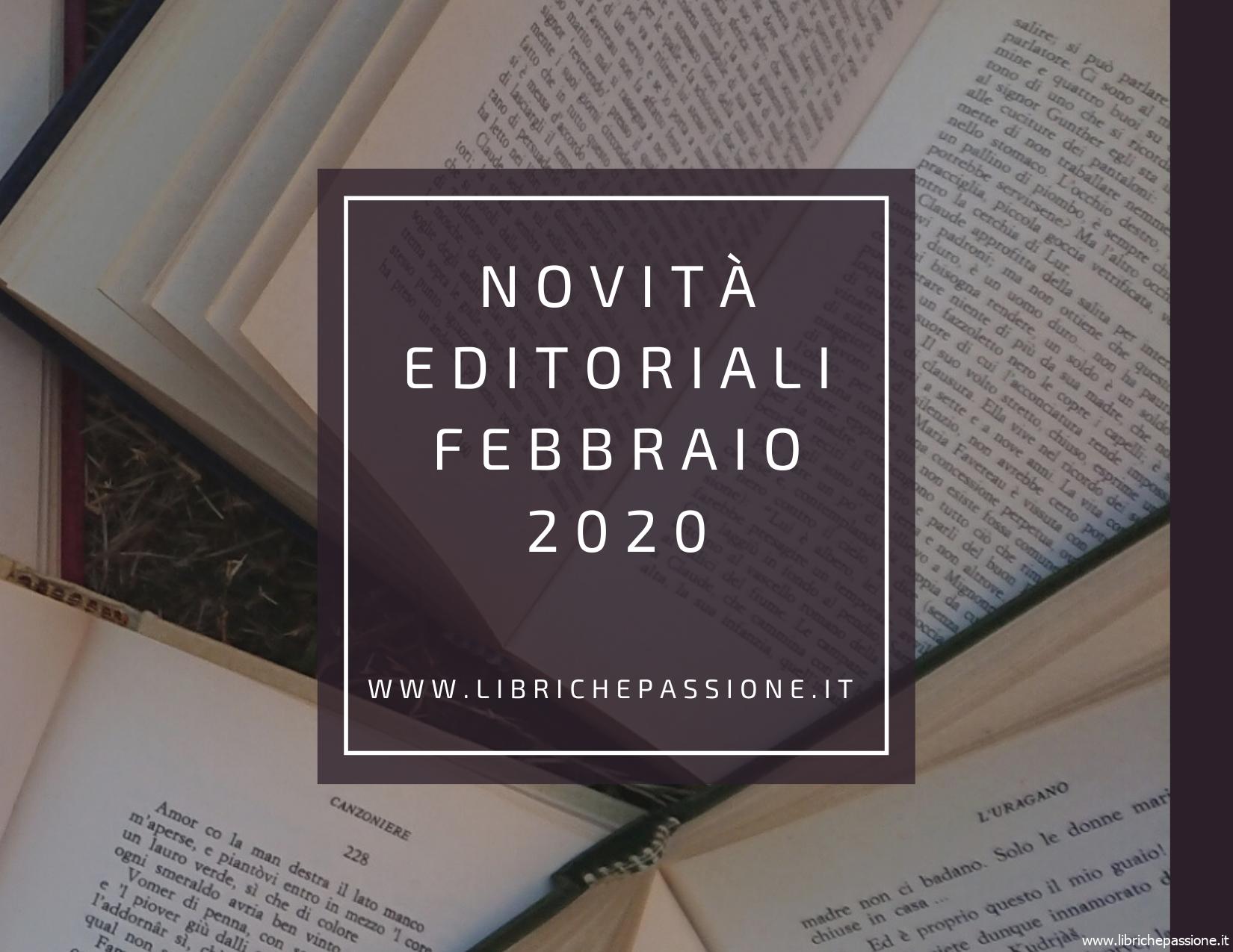 Novità in libreria Febbraio 2020