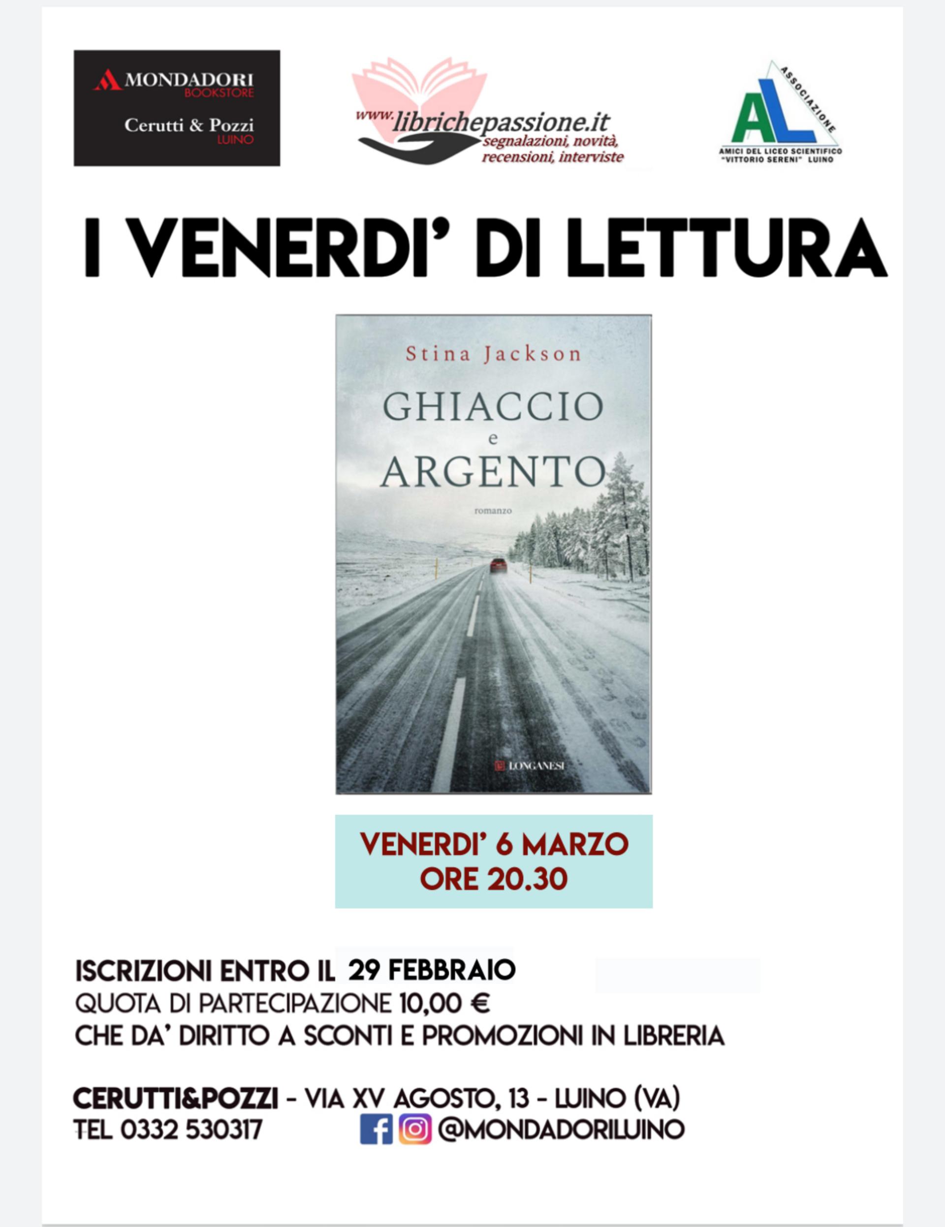 Nuovo appuntamento con gli incontri di lettura presso la libreria Mondadori Bookstore di Luino.