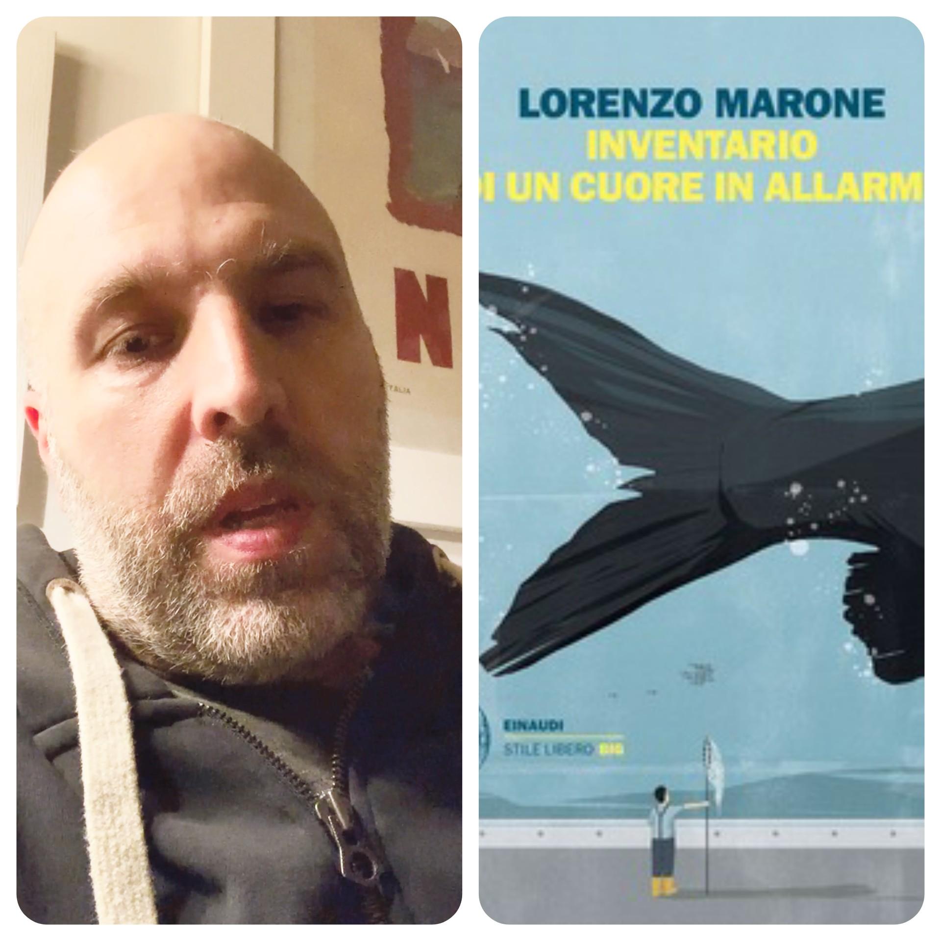"""""""Ve lo legge lo scrittore""""            Stasera ospite del Blog c'è Lorenzo Marone autore del saggio """"Inventario di un cuore in allarme"""" edito da Einaudi"""
