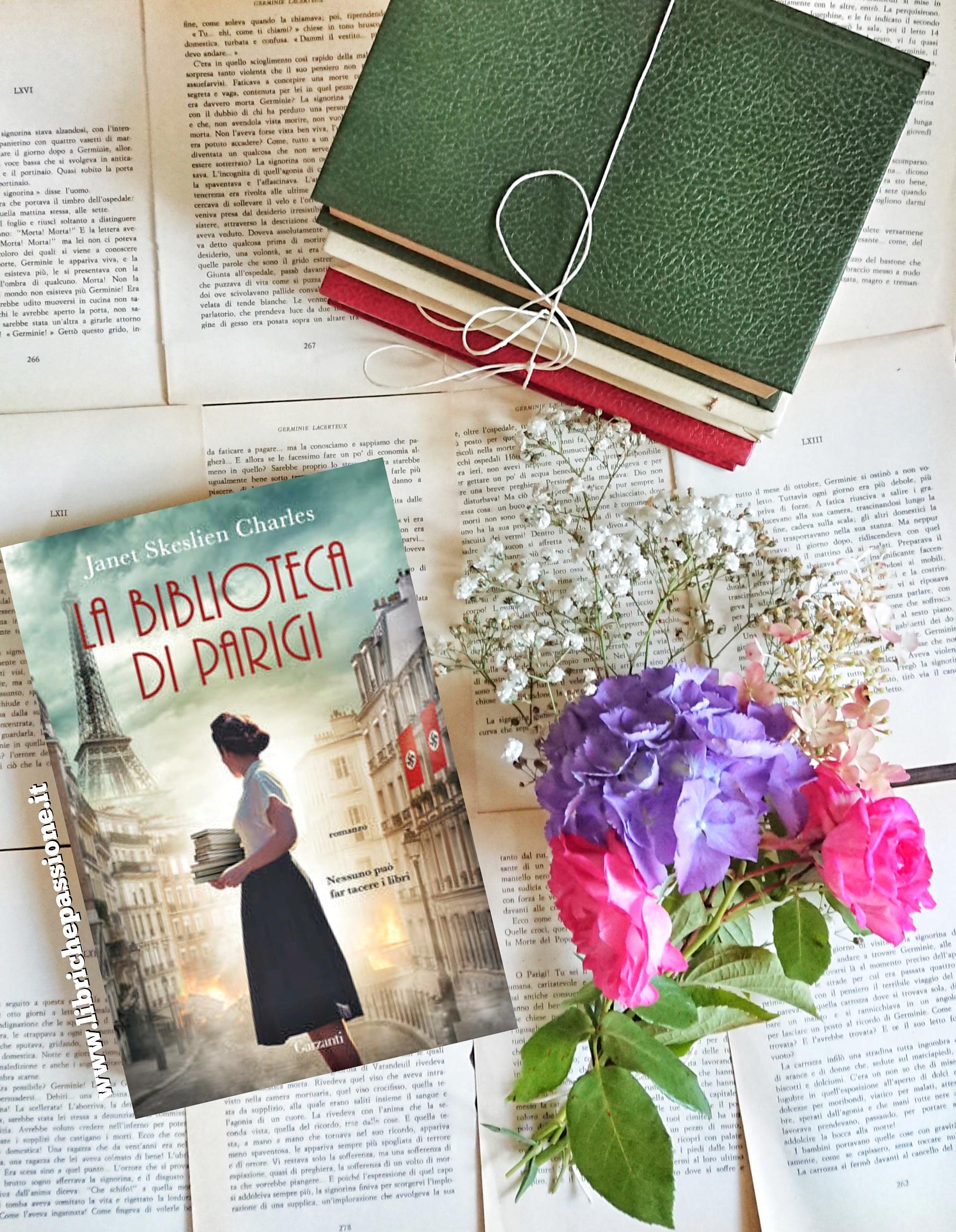"""Recensione del romanzo """"La biblioteca di Parigi"""" di Janet Skeslien Charles edito da Garzanti"""